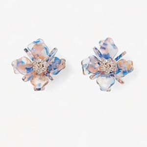 Express Resin Oversized Flower Earrings